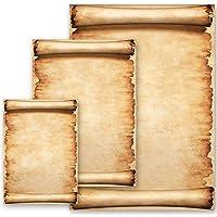 Papel de carta PERGAMINO Antiguo & Historia Viejo Papel Estilo Antiguo - 100 Hojas formato DIN A4 - Paper-Media