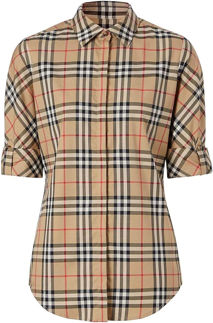 BURBERRY 8018475 - Camisa para Mujer, Color Beige Beige tamaño de Marca 8: Amazon.es: Ropa y accesorios
