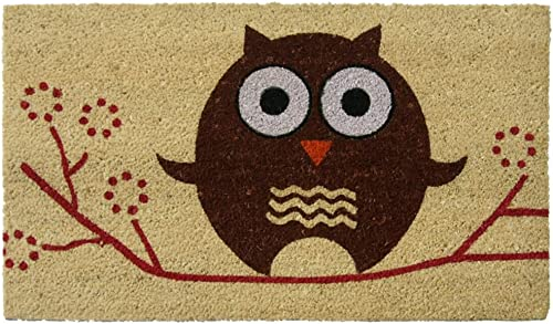 Rubber-Cal Hooo s There Owl Cocomats, 18 x 30-Inch