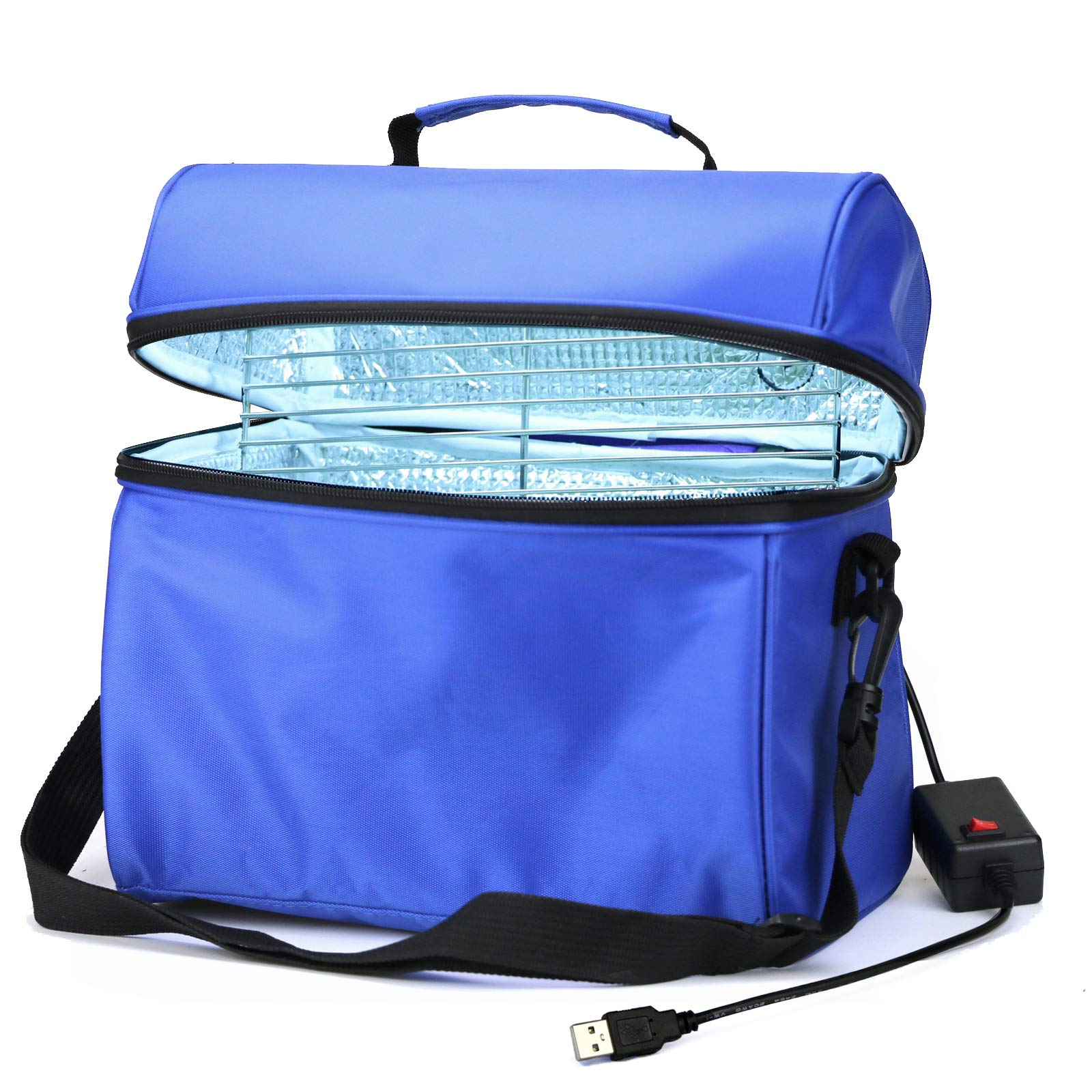 UV-C Light Clean Bag for Indoor & Outdoor Picnic Portable/USB Input/Big Capacity/Timer 5 Minutes/UVC Ozone Free