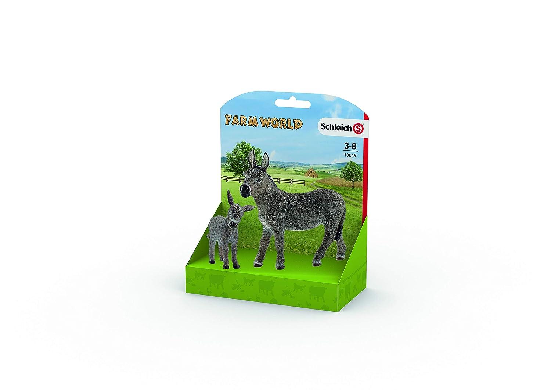 Schleich Donkey /& Donkey Foal