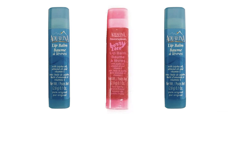 Aquafina Lip Balm - Varied Flavors 3 Tubes