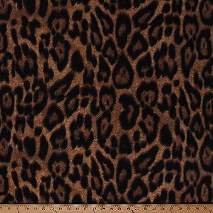 1cf5f57fc6 Amazon.com  Leopard Spots Animal Print Jungle Brown Fleece Fabric ...