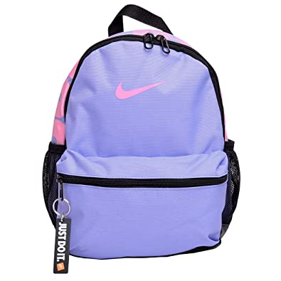 b8450212 Amazon.com: NIKE Brasilia Just Do It Junior Kids' Backpack (One Size, Cool  Grey/Black/Racer Pink): Shoes