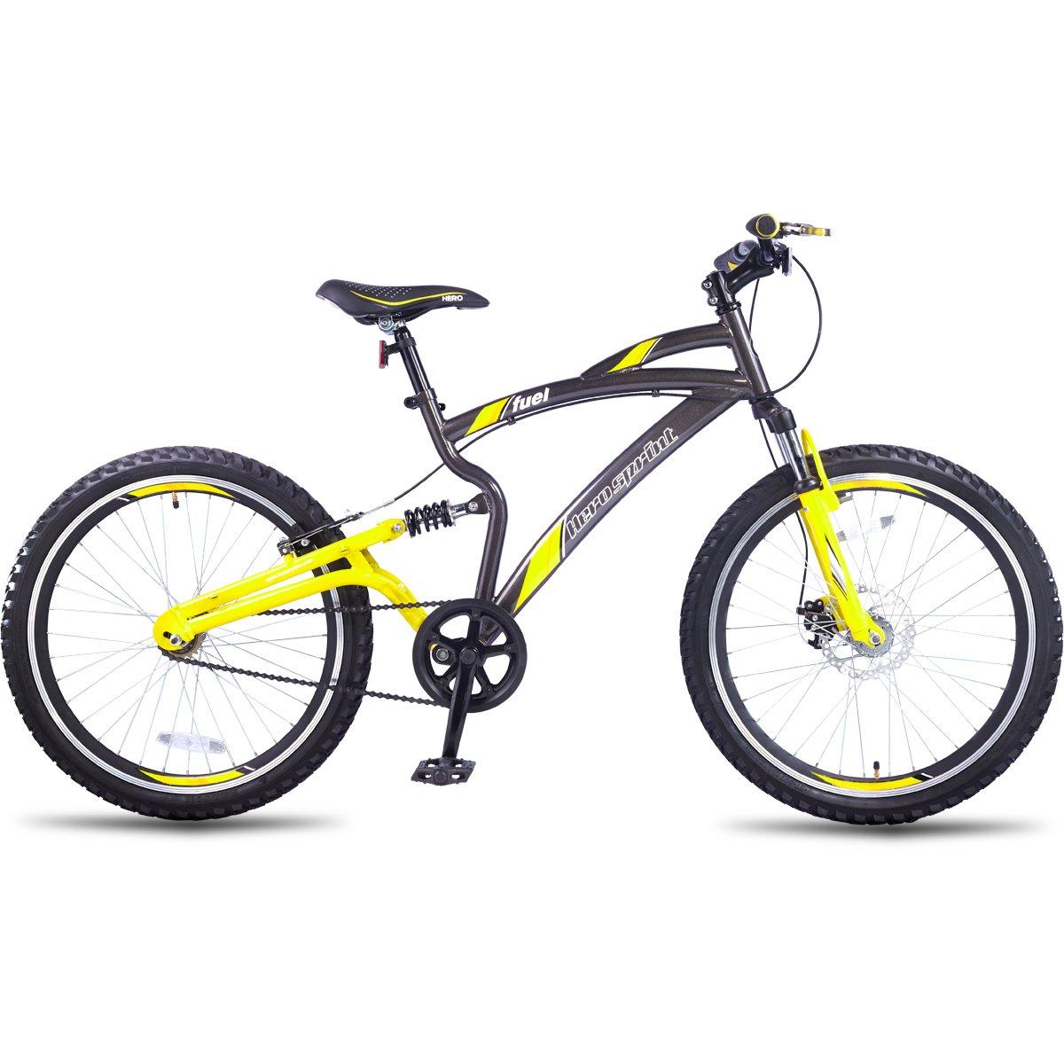 Buy Hero Sprint 24T Fuel Single Speed Junior Cycle 18-inches (Grey ...