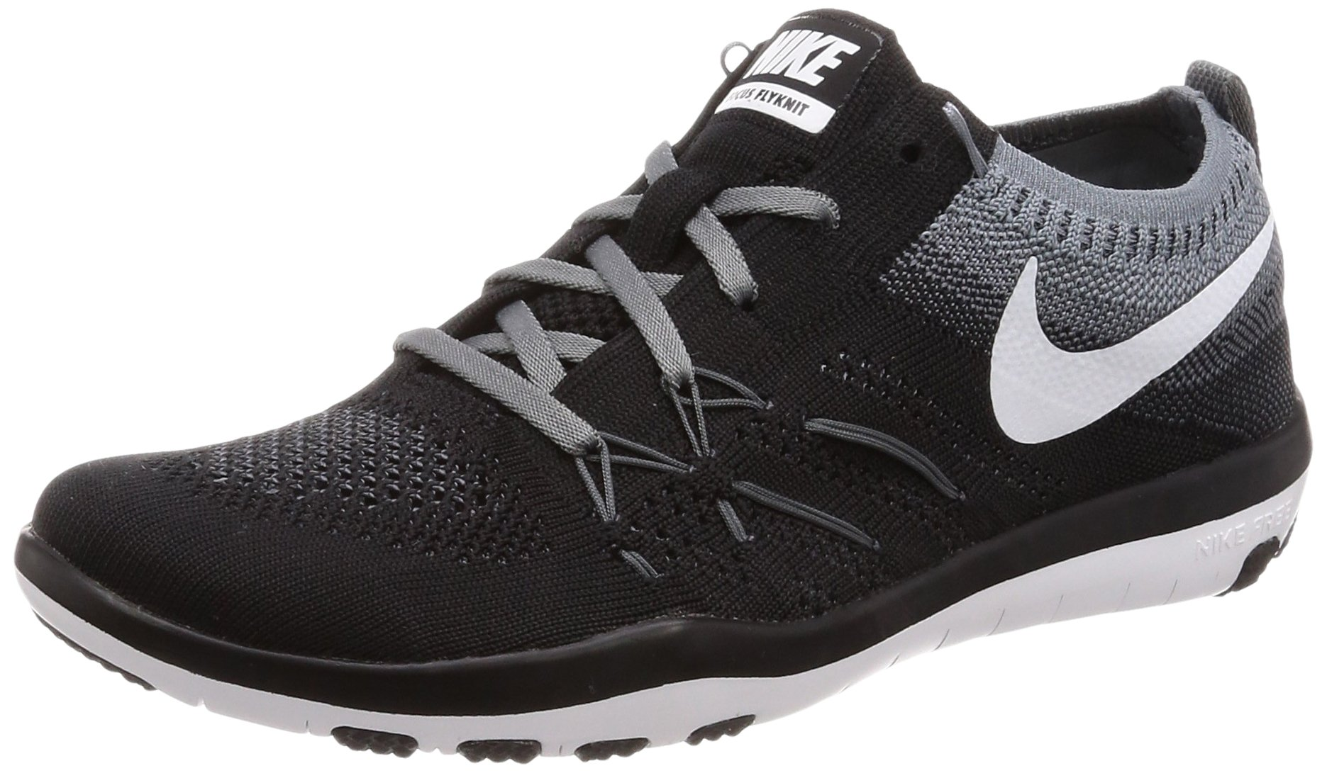 promo code cdff4 9d7b0 Galleon - Nike Women s Free TR Focus Flyknit Black White Grey Running Shoes  Size 7