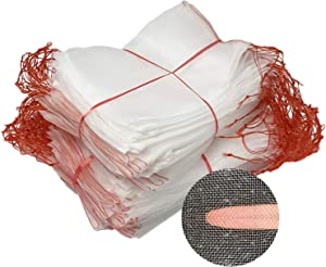 Fruit Protection Bags,100Pcs Nylon Net Barrier Bag Garden Netting Bags Insects Mosquito Bug Net Barrier Bag with Drawstring for Grape, Tomato, Banana, Peach, Apple, Flower
