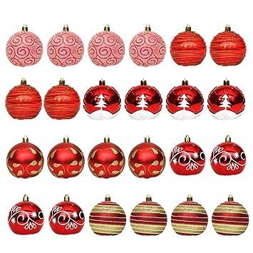 Amazon De Supvox Rot Weihnachtskugel Kunststoff Christbaumschmuck