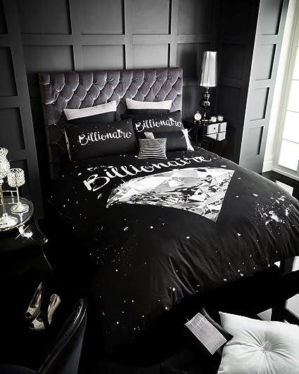 c3a0f694289 Billionaire Duvet Cover Set Double With Pillowcases Quilt Bedding Set  Reversible Poly Cotton , Billionaire: Amazon.co.uk: Kitchen & Home