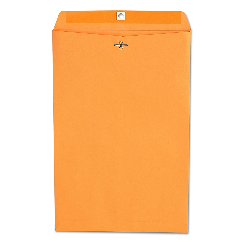 Kraft Clasp Envelope, Side Seam, 28lb, 10 x 15, Light Brown, 100/Box