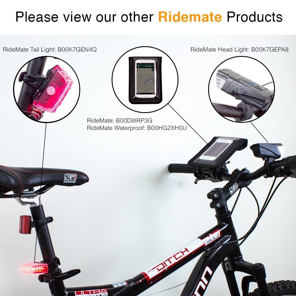 HTC EVO S6 Edge and more Waterproof Black 600 S6 Satechi Pro RideMate Bike Mount ST-RM600 HTC Inspire 4G Compatible with iPhone 6//5S//5C//5 Samsung Galaxy S4 S5 HTC Sensation