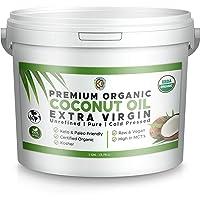 Premium Ultra Pure UNREFINED Organic Extra Virgin Coconut Oil - Cold Pressed, Gluten-Free, Keto & Paleo Friendly…