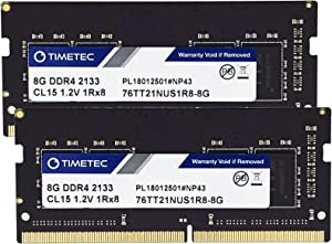 Timetec Hynix IC 16GB KIT(2x8GB) DDR4 SODIMM for Intel NUC KIT/Mini PC/HTPC/NUC Board 2133MHz PC4-17000 Non ECC Unbuffered 1.2V CL15 Single Rank 260 Pin Memory Upgrade(16GB KIT(2x8GB))