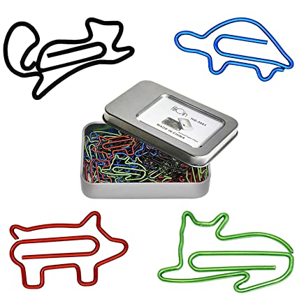 Beau HiQin Cute Paper Clips Bookmark Clips   Office School Supplies   Funny Office  Gifts Birthday Gifts