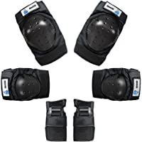 OMID Knee Pads and Elbow Pads with Wrist Guards Protective Gear Set for Adult & Child, Sports Protective Gear Safeguard Support Pad for Multi Sports Skateboarding, Biking, Riding, Cycling