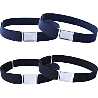 Cinturón magnético ajustable para niños, 4 piezas, cinturón elástico grande con hebilla magnética fácil para niños de 2…