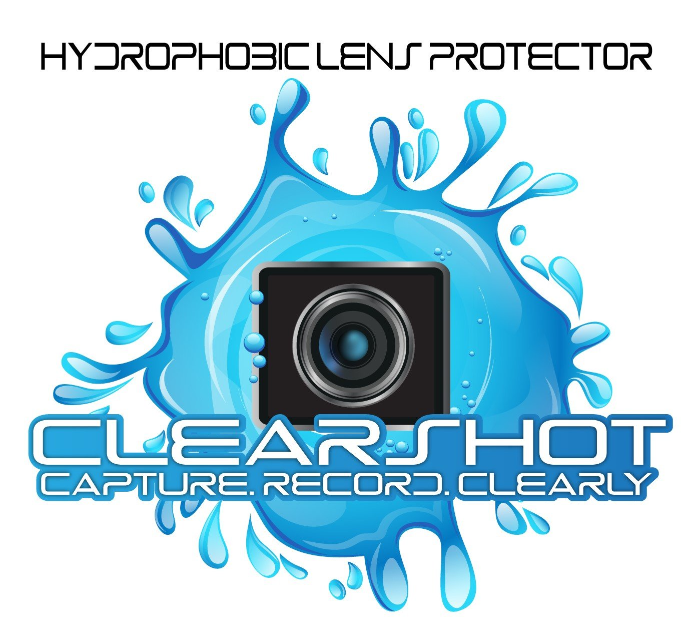Hydrophobic Lens and Screen Protector for GoPro Hero 5/6 Black with FREE SILICONE LENS COVER (5.99 value). Anti-Scratch, Water/Snow Repellent, Touchscreen Compatible, Lasts up to 6 Months. by ClearShot
