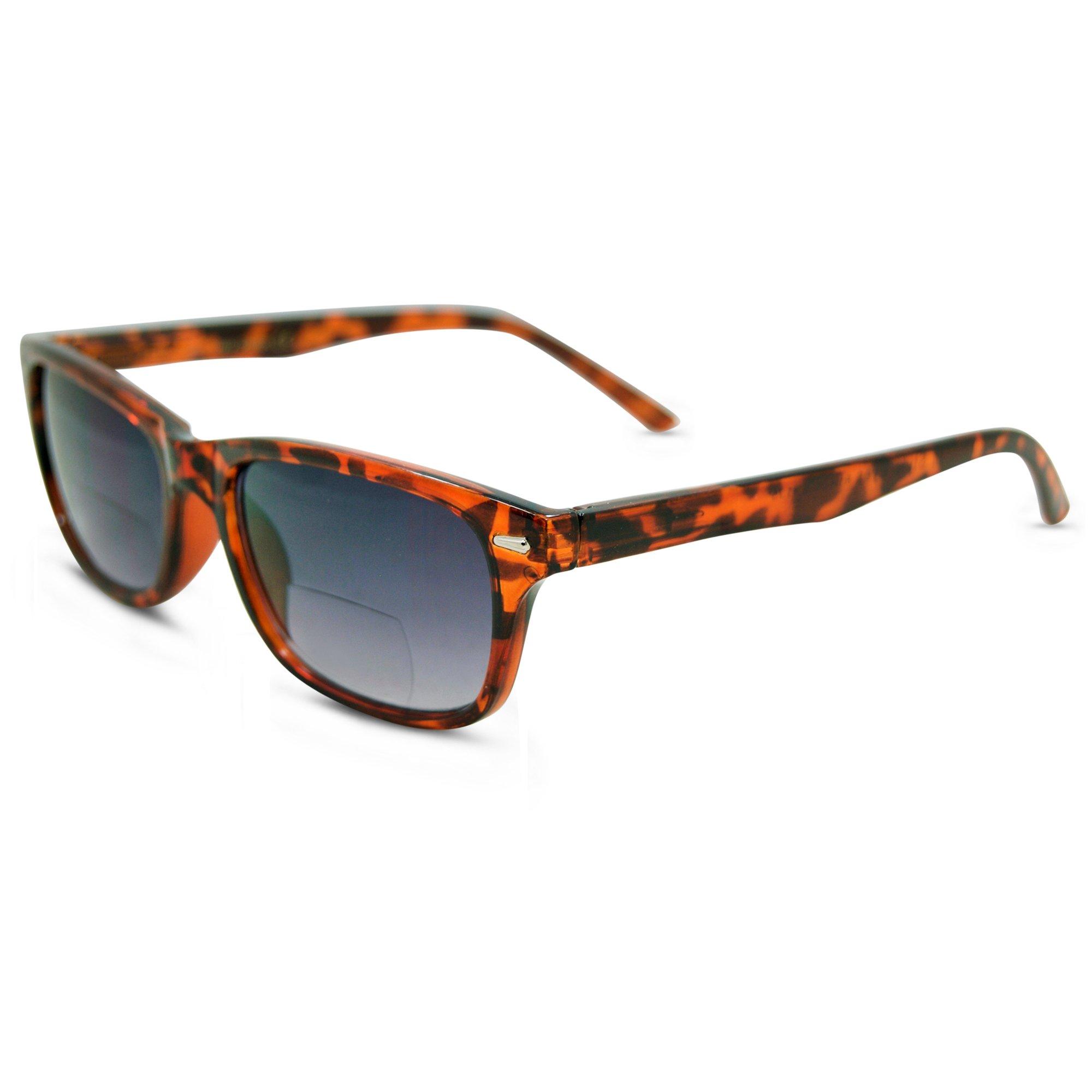 In Style Eyes Seymore Wayfarer BiFocal Sunglasses for Both Men & Women Tortoise 2.50