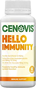 Cenovis Hello Immunity - Support healthy immune system - Reduce severity of cold symptoms - Antioxidant, 60 Tablets
