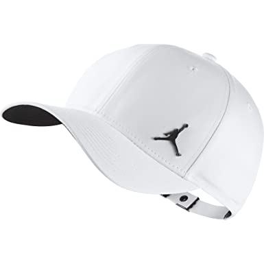 50c9f4f4e96 Jordan Classic 99 Metal Jumpman Adjustable Hat Adult Unisex (Blanco ...