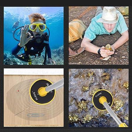 Harlls Detector de Metales PI-Iking 750 30m Detector de Metales subacuático Resistente al Agua Alta sensibilidad Inducción de Pulso de Mano Pinpointer: ...