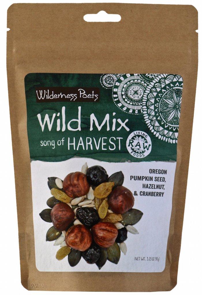 Wilderness Poets''Song of Harvest'' Wild Mix - Raw Trail Mix (Hazelnut, Pumpkin Seed & Cranberry) 3.25 oz