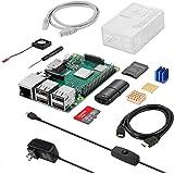 Sanoov Raspberry Pi 3 Model b+ ラズベリーパイ3b+ ラズパイ【2018新型】5V/3A スイッチ付き電源/HDMIケーブル/MicroSDHCカード32GB/CAT6ネットケーブル/DCブラシレス冷却ファン/ドライバー/ラズパイ専用ケース/カードリーダ