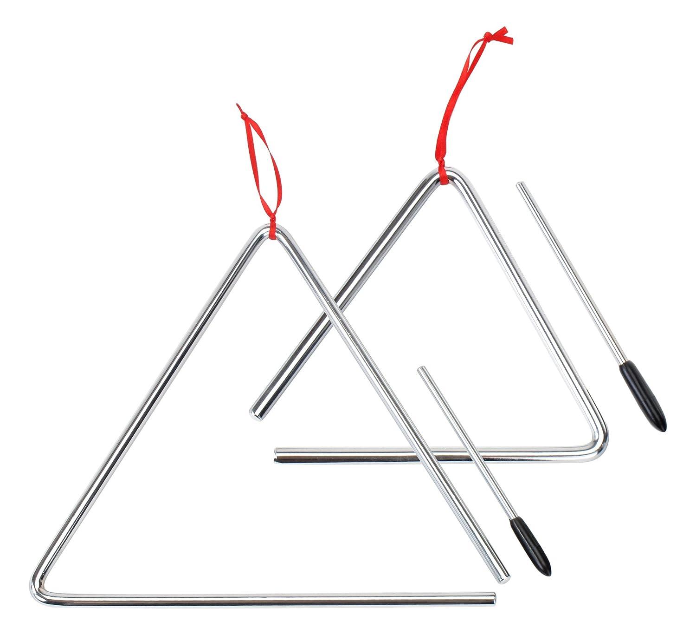 XDrum Triangel Starter SETl klein 15cm + groß 25cm, inkl. Schlägel inkl. Schlägel Triangle Starterset