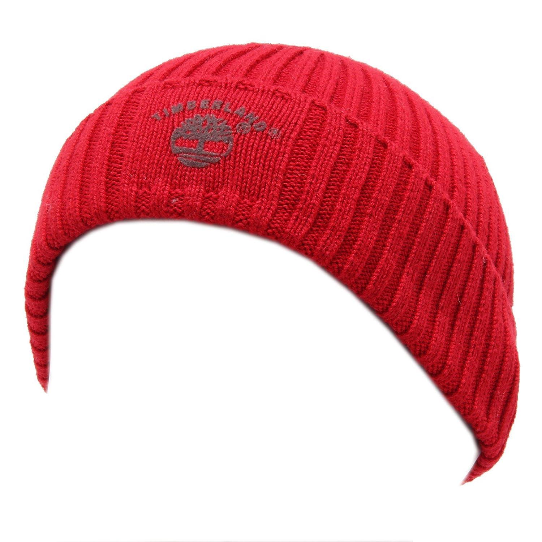 4369U cuffia bimbo TIMBERLAND rosso hat cotton kid