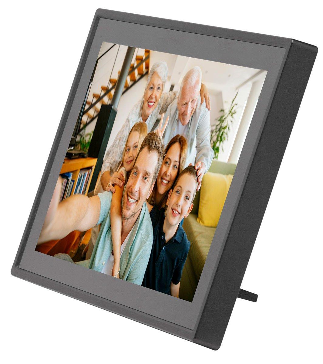 Cornice digitale con Wi-Fi Risoluzione: 1024x600 DENVER PFF-711WHITE 7 Pollici Software fotografico per inviare foto dallapplicazione mobile al fotogramma Timer