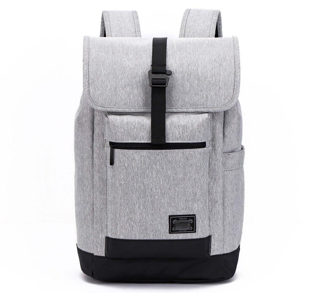 KEYNEW Fashion Men's Business Backpack Fit 15.6 inch Laptop Functional Heat & Cold Preservation Pocket for Summer Winter (Black)