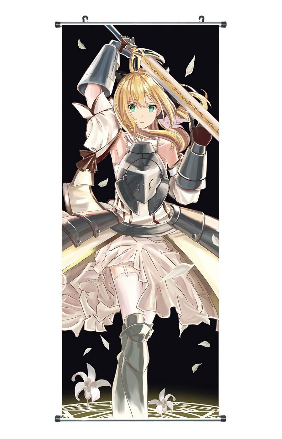100x40 CoolChange Poster para enrollar//Kakemono Grande de Fate Stay Night Saber Lily Tema