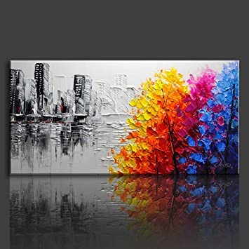 Fuumuui Paint By Numbers For Adults and Kids DIY Oil Painting Gift Kits Pre-Printed Canvas Art Home Decoration BigBen 16*20 inch