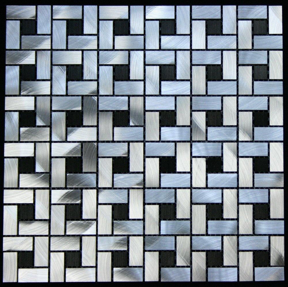 Legion Furniture MS-ALUMINUM15 Aluminum Tile, Silver/Black