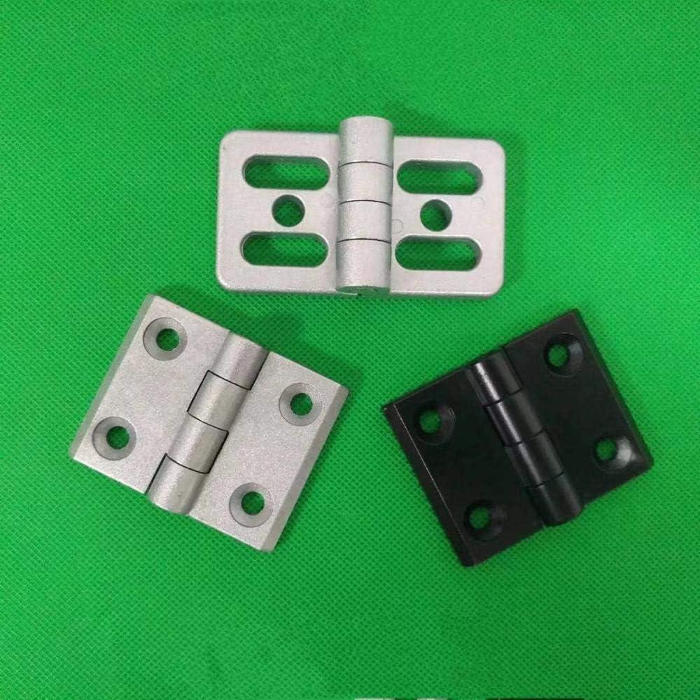 Color: 3030-Black-1Pcs 2020 3030 3040 4040 Metal Hinge Zinc Alloy Hinge Finished Aluminum Hinge Door Hinge Connector Black Or Sliver Color