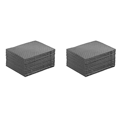 """ESP NPS Spill Control 1AMGPL Airmatrix Polypropylene Heavy Weight Maintenance Universal Absorbent Laminated Pad, 18"""" Length x 16"""" Width, Gray (100 Per Bale) (Two Pack): Home & Kitchen"""
