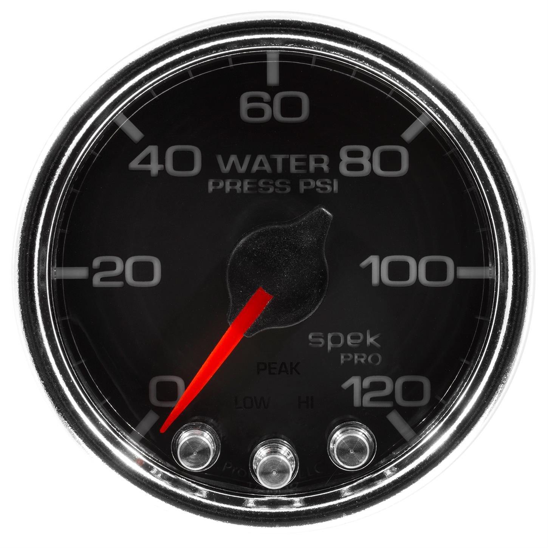 Blk//Chrm Water Press 120Psi Stepper Motor W//Peak /& Warn Spek-Pro 2 1//16 2 1//16 Auto Meter P34531 Gauge
