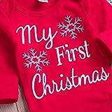 XoiuSyi,4PCS Christmas Newborn Baby Boy Letter