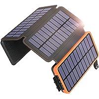 Hiluckey - Cargador solar portátil impermeable 25000mAh-OR