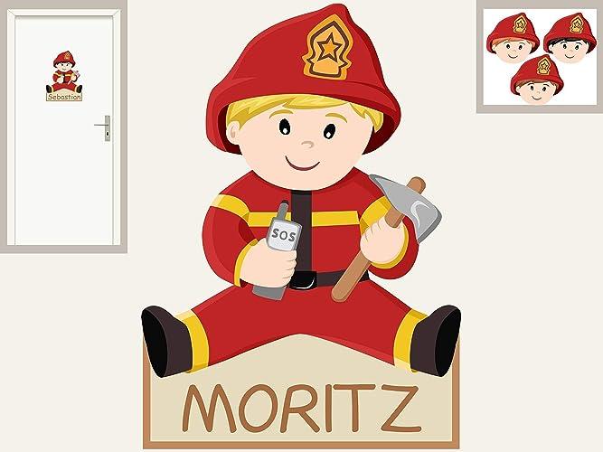 Turschild Feuerwehrmann Personalisierbarer Aufkleber Wandtattoo Fur