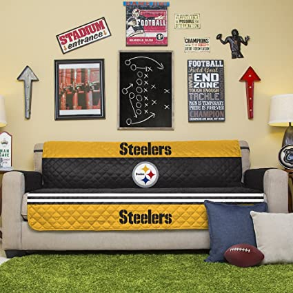 Superior Pegasus Home Fashions NFL Pittsburgh Steelers Sofa Couch Reversible  Furniture Protector With Elastic Straps, 75