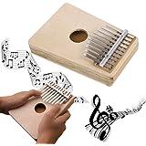 Pulgar Piano, Everesta profesional portátil Musical 10 llave Kalimba Mbira pulgar Piano instrumento para amante de la música y principiantes, beige