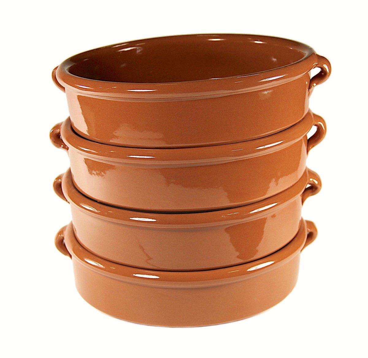 Terra Cotta Cazuelas - 8 Inches (4 Dishes)