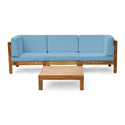 Excellent Amazon Com Christopher Knight Home Brava Outdoor 3 Seater Short Links Chair Design For Home Short Linksinfo