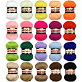 Marriner Yarns Midget Double Knit Starter Bumper Pack | 20 x 25g Balls of Assorted Double Knitting Yarn | Colours As Shown | 100% Acrylic