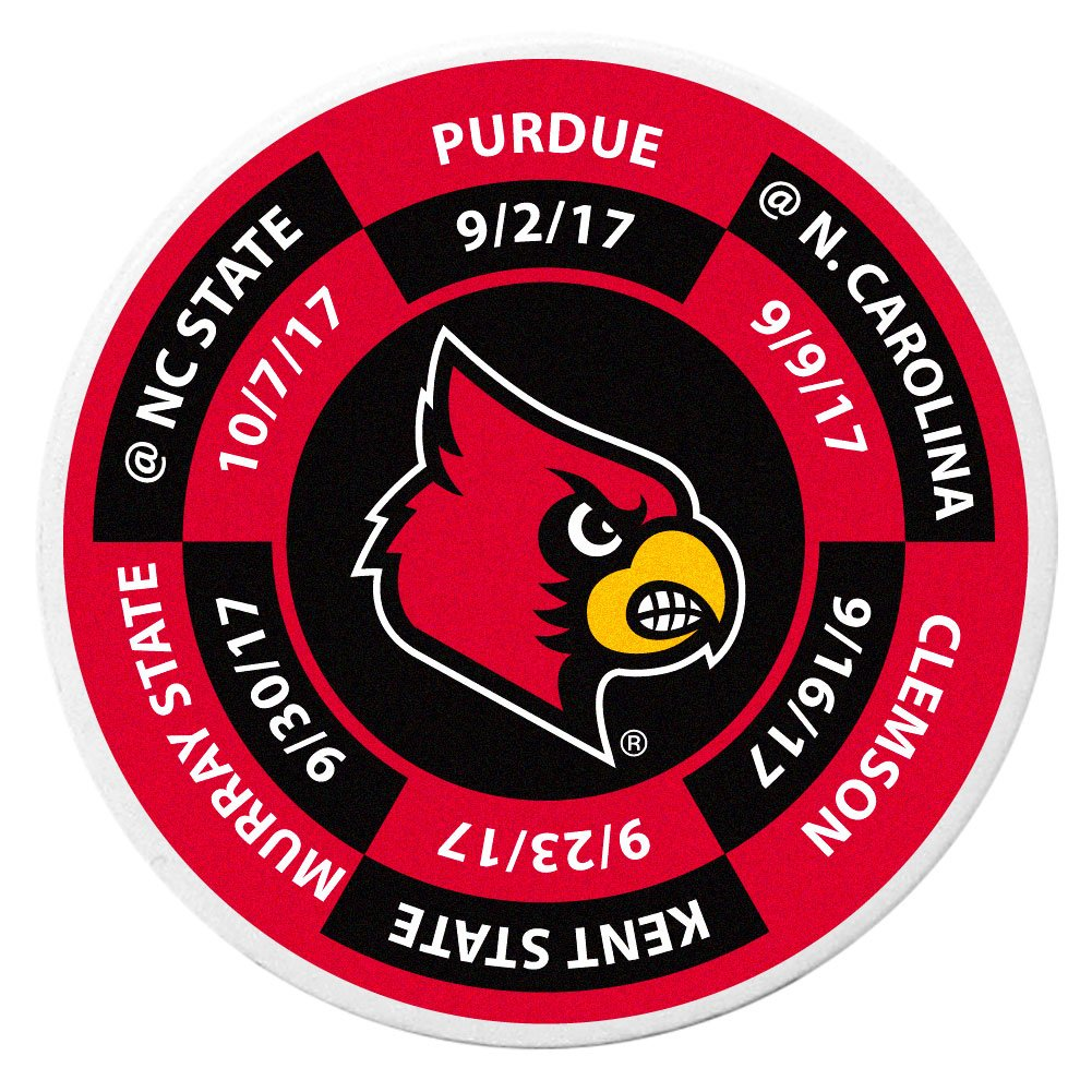 Siskiyou NCAA Louisville Cardinals Schedule Golf Ball Marker Coin