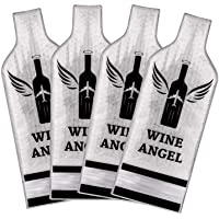 [UPGRADED PROTECTION] 4 Set (8 pcs) Reusable Wine Bags for Travel, Wine Travel Protector, Bottle Travel Sleeve Case For…