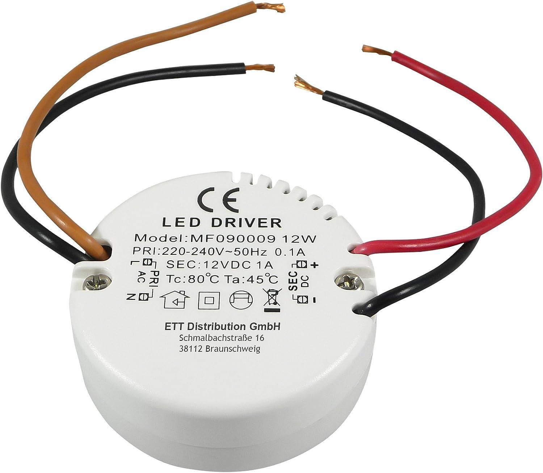LED transformateur LED installation transformateur LED rundtrafo LED transformateur unterputzdose 0,5-12 watt DC