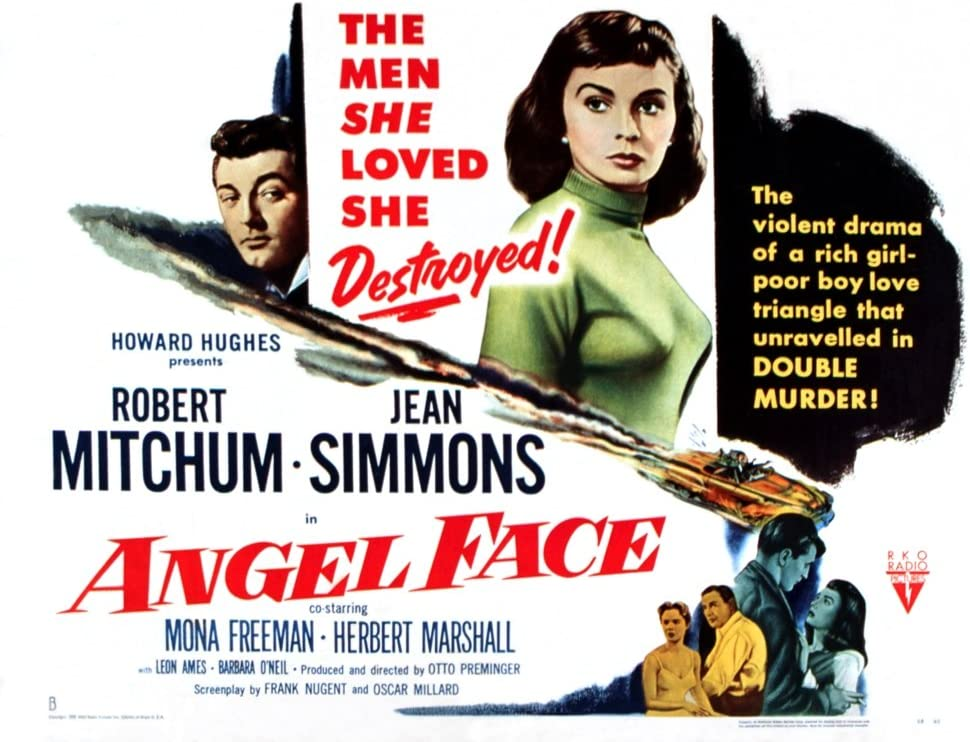 Amazon.com: Posterazzi Angel Face Robert Mitchum Jean Simmons 1952 ...