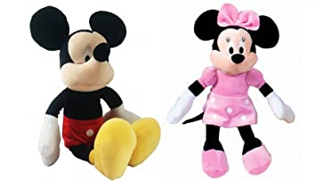 Pack 2 Peluches Disney Mickey y MINNIE MOUSSE supersoft 30 cms de pie / 20 cm